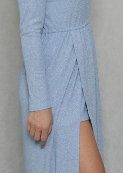 Ocean plava duga haljina
