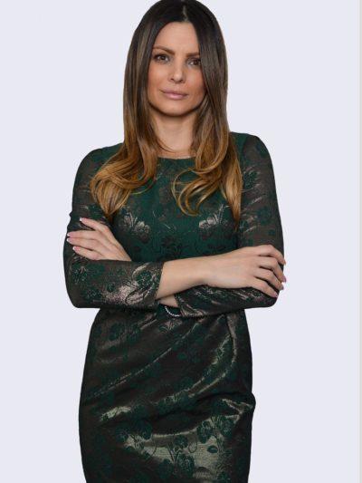 Evita poslovna zelena haljina